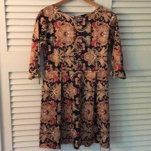 Dresses & Skirts - Leg Lanilla Printed Deco Inspired Dress Size M